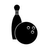 пиктограмма спорта штифта с полукруглой головкой боулинга иллюстрация вектора