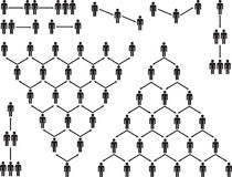 Пиктограмма людей пирамиды Стоковые Изображения