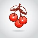 Пиктограмма ягоды вишни, иллюстрация вектора бесплатная иллюстрация
