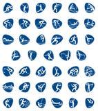 Пиктограммы для спортивного мероприятия Установленные значки спорт лета 2016 иллюстрация вектора