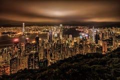 Пик Виктории, Гонконг Стоковое Изображение