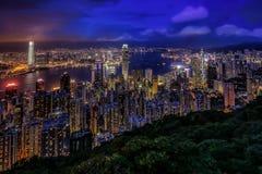 Пик Виктории, Гонконг Стоковые Фотографии RF