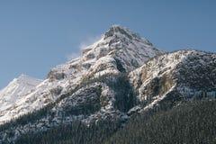 Низовая метель Lake Louise Стоковое Изображение RF