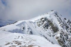 пик высокой горы Стоковые Фотографии RF