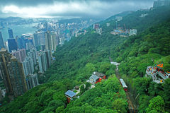 Пик в Гонконге Стоковая Фотография