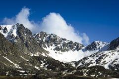 Пик горы на Андорре Стоковая Фотография