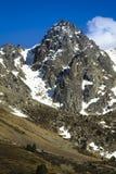 Пик горы на Андорре Стоковая Фотография RF