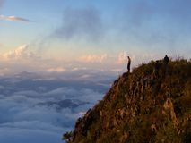 Пик горы Chiang Dao, Таиланда mai chiang 25 Novem Стоковая Фотография RF