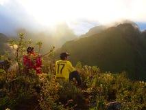 Пик горы Chiang Dao, Таиланда mai chiang 25 Novem Стоковое Изображение RF