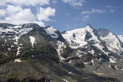 Пик горы Grossglocker с снегом в временени Стоковое фото RF