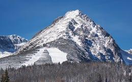 Пик горы Predne Solisko стоковая фотография rf