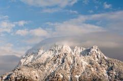 Пик горы Snowy Стоковые Изображения RF