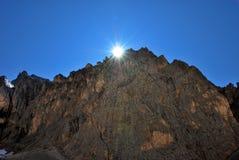 пик гор Италии dolomiti Стоковые Фотографии RF