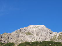 пик гор к поднимающему вверх взгляду Стоковая Фотография RF