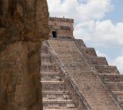 Пик на El Castillo Стоковое Изображение RF