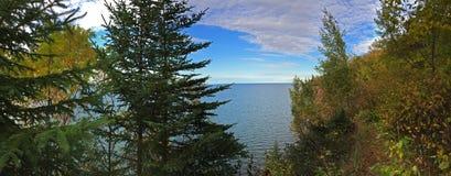 Пик на Lake Superior Стоковое Изображение RF