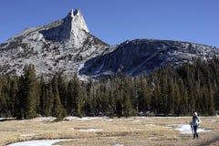 Пик собора, национальный парк Yosemite Стоковые Изображения RF