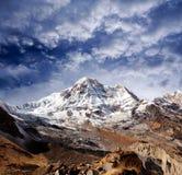 Пик Annapurna южный в Непале Гималаях Стоковое Изображение