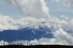 Пик Canigou в Пиренеи Стоковые Фотографии RF