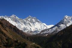 Пик dablam Ama в trekway от Непала в треке everest Стоковые Изображения