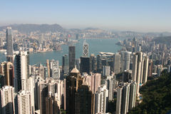 пик Hong Kong Стоковое фото RF