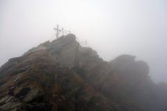 Пик Kitzsteinhorn, Австрии стоковое изображение rf