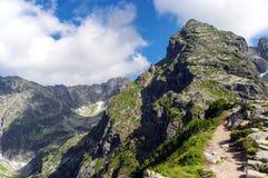 Пик Koscielec в высоком Tatras Польша Стоковые Фото