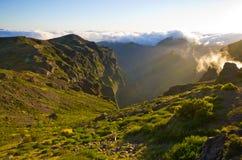 Пик Pico Ruivo на острове Мадейры, Португалии Стоковая Фотография RF