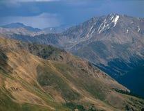 Пик Plata Ла и причаливая шторм, ряд Sawatch, коллигативные пики глушь, Колорадо Стоковые Фотографии RF