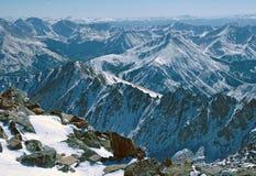 Пик Plata Ла, утесистые горы Колорадо Стоковая Фотография