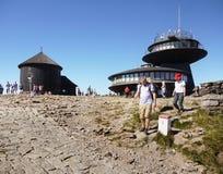 Пик Sniezka, метеорологическая обсерватория, часовня Стоковая Фотография RF