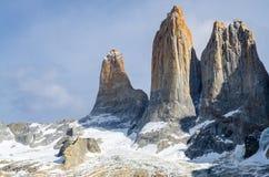 Пик Torres del Paine Стоковое фото RF
