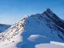 Пик Tuxer Joch от ледника Hintertux стоковое изображение rf