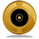 пила золота монетки лезвия Стоковые Изображения