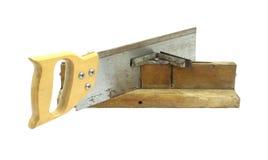 пила митры коробки старая Стоковая Фотография RF