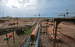 пила стана фабрики Стоковая Фотография RF