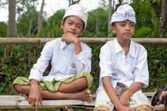 пилигримы balinese традиционные стоковые фотографии rf