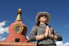 пилигрим Тибет стоковое изображение rf