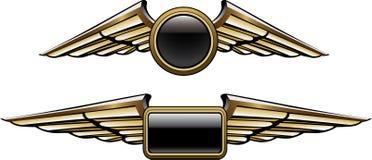 пилотные крыла иллюстрация вектора