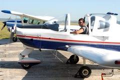 пилот двигателя стоковое фото rf