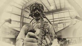 Пилот и самолет WWII Стоковые Фото