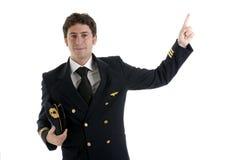 пилот капитана авиакомпании Стоковое Изображение