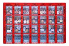 пилюлька коробки Стоковое фото RF