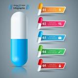 Пилюлька, таблетка, значок медицины, дело здоровья infographic иллюстрация вектора
