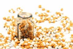 пилюльки бутылки медицинские Стоковая Фотография RF
