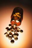 пилюльки бутылки Стоковое Изображение RF