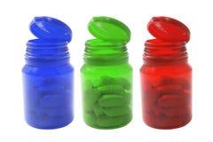 пилюльки бутылки Стоковое Фото