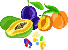 Пилюльки витамина стоковое фото