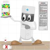 пилюльки упаковки доктора иллюстрация вектора