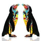 Пингвина дизайн низко поли Стоковая Фотография
